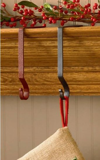 Iron stocking hanger