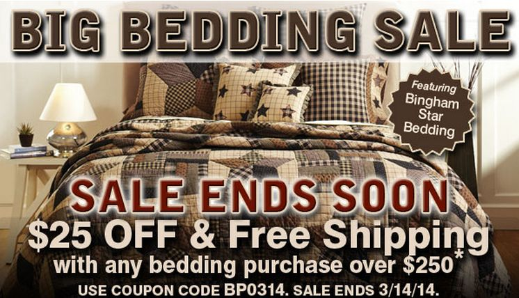 bedding sale ends soon