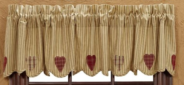 Heartland applique scalloped valance