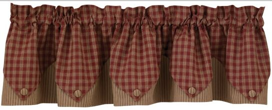 Sturbridge wine lined point valance
