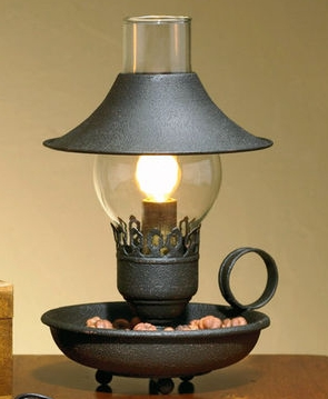 25-107R-Black-Chamberstick-Lamp-with-Shade_LRG