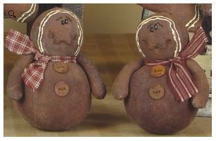 Gingerbread man ornament set