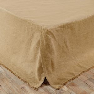 Burlap bed skirt