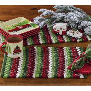 Wintergreen chindi placemat