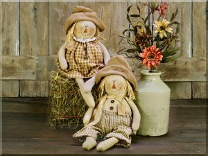 primitive scarecrow dolls