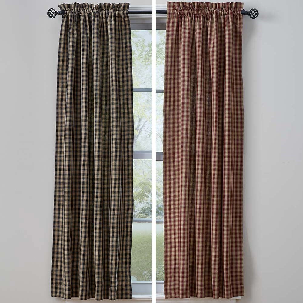 country window treatments log cabin new collection of country window treatments from our friends at park designs the plaid pattern offers traditional look in wine or black this just in town and country designs