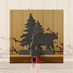 Bear and Tree stocking hanger