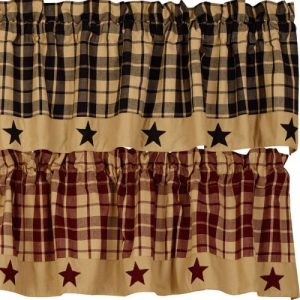 Farmhouse Star Lined Valance