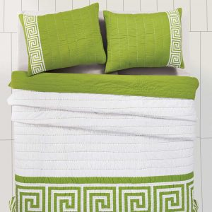 Athena Green Quilt Set