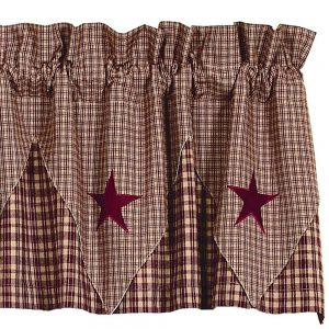 Vintage Star Wine Point Valance