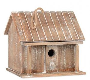 Weathered Wood Bird House