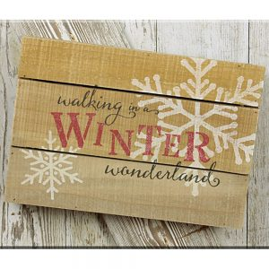 Winter Wonderland pallet sign