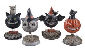 Halloween bobble head set