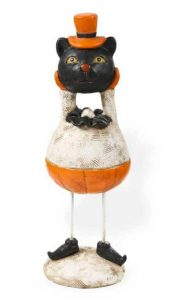 Rustic black cat figure
