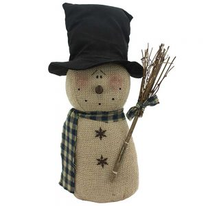 Top Hat Snowman with Broom