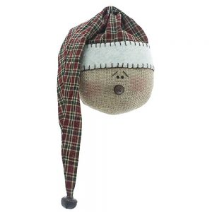 Plaid Nightcap Snowman Head