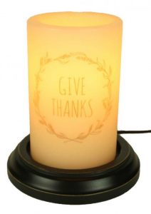 Give Thanks candle sleeve
