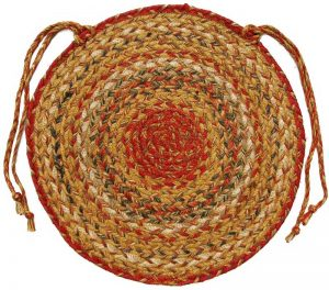 Mustard Seed braided chair pad