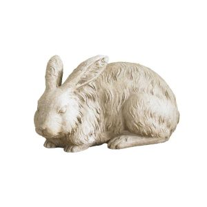 White rabbit lawn decor