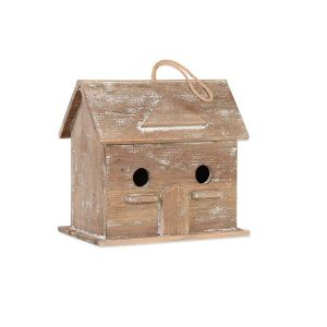 Weathered two hole birdhouse