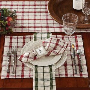 Fireside table linens