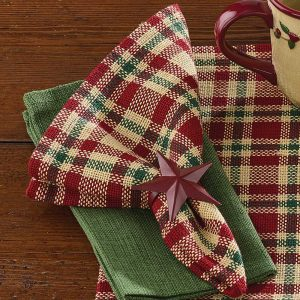 Seasons Greetings table linens