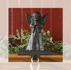 Angel stocking hanger