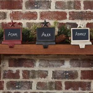 Chalkboard stocking hangers