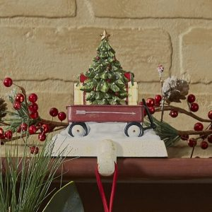 Red Wagon stocking hanger
