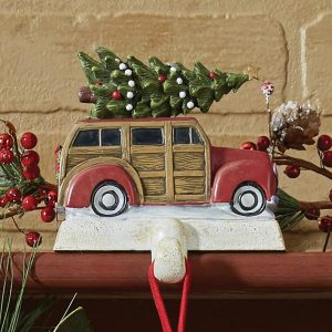 Red Woody stocking hanger