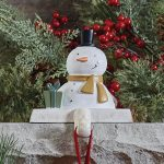 Snowman stocking hanger