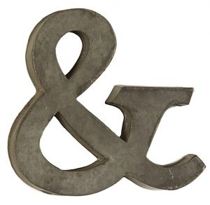Decorative Tin Letter