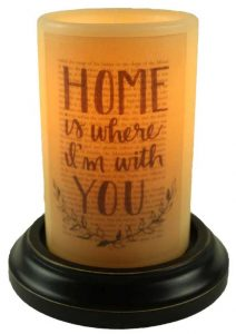 Home with you candle sleeve