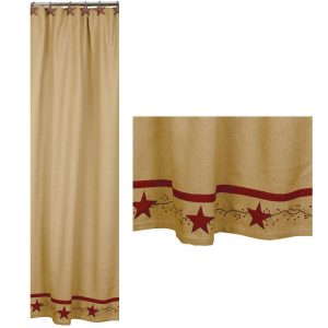 Primitive Star Vine shower curtain