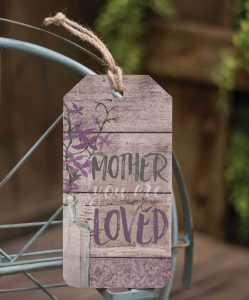 Mother wooden tag