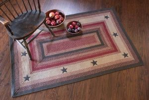 Primitive Star rectangular braided rug