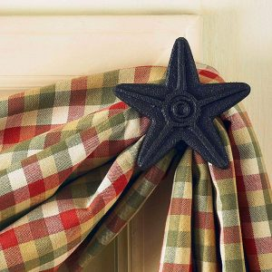 Black Star cast iron curtain hook