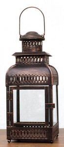 Rustic antique bronze lantern