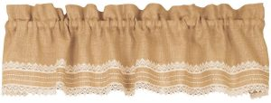 Abigail burlap french country valance