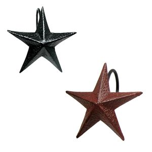 Tin Star Shower Curtain Hooks