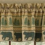 Bear Tracks Lined Valance