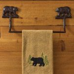Cast Bear Towel Bar Ring