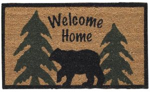 Welcome Home Black Bear Door Mat