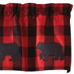 Buffalo Check Bear Valance