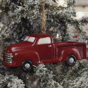 Little Red Truck tree ornament