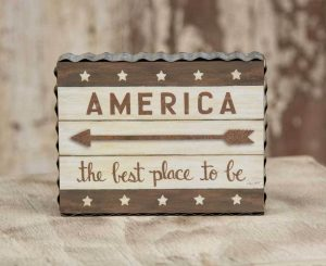 America Best Place box sign