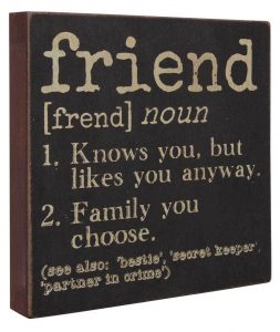 FRIEND definition sigh