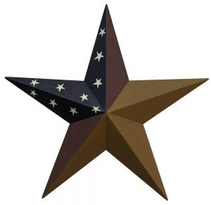 Colonial metal barn stars
