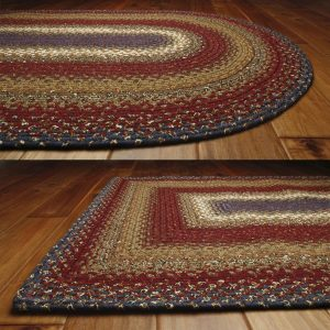 Americana braided rugs