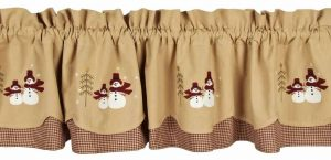 Evergreen Fairfield Christmas valance